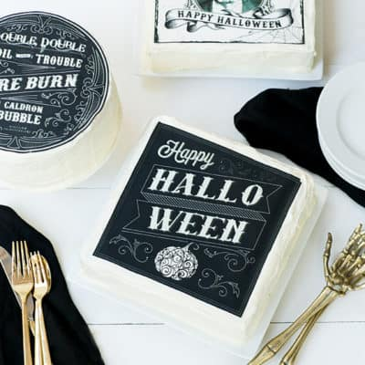 Printable and Edible Halloween Cake Designs!