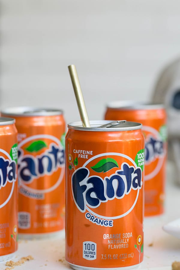 shot of can of fanta