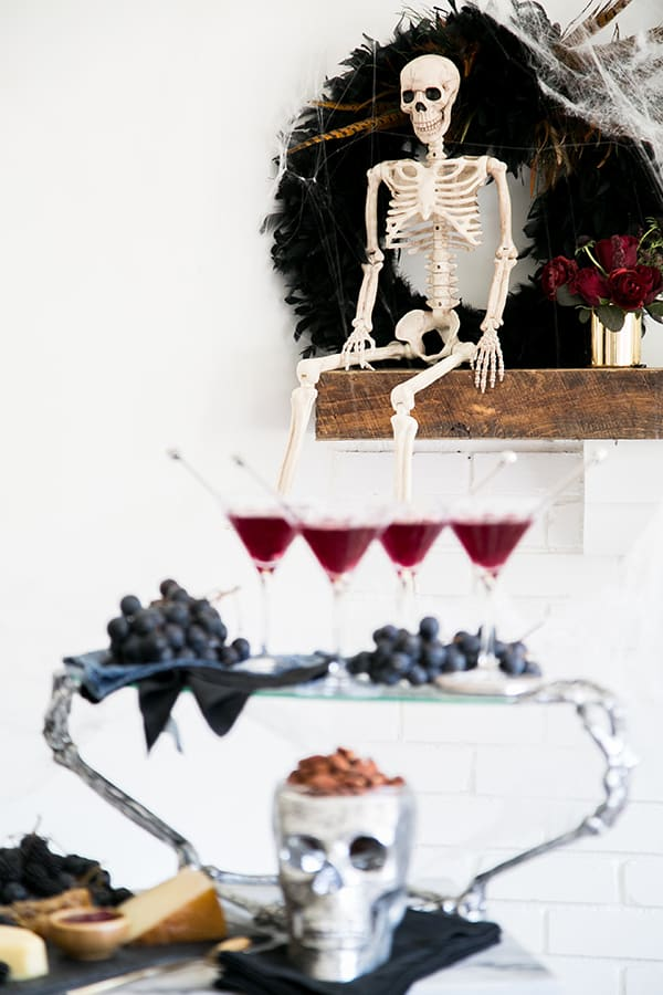 shot of skeleton decoration