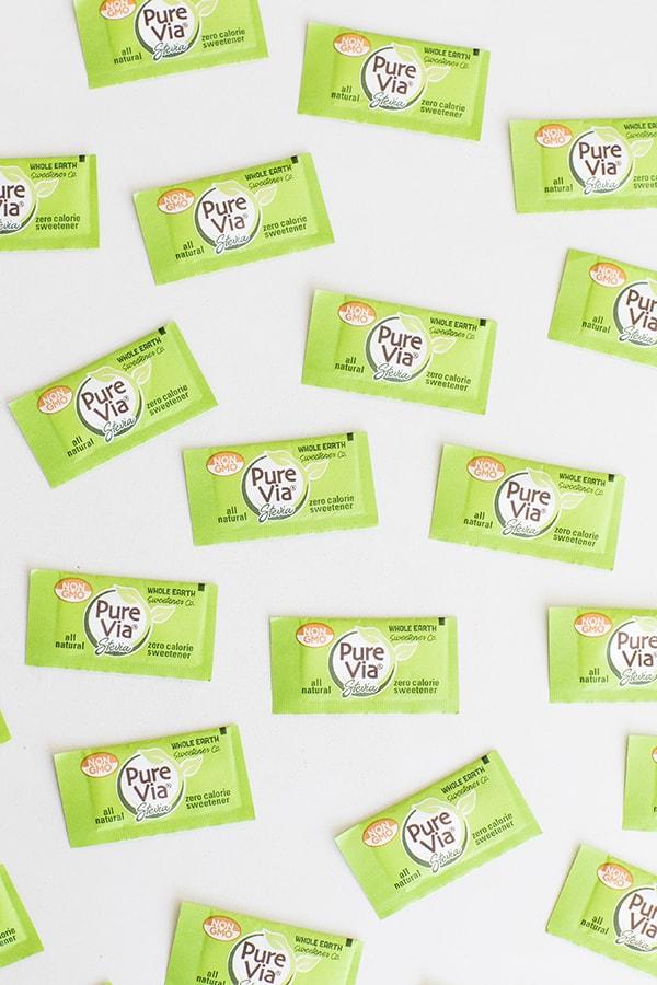 Pure Via sweetener sugar packets