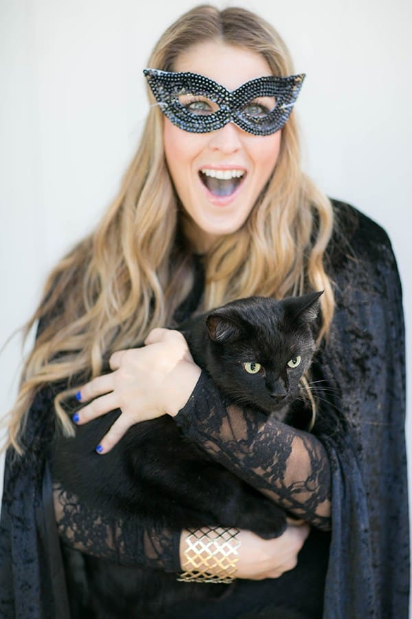 eden with a black cat