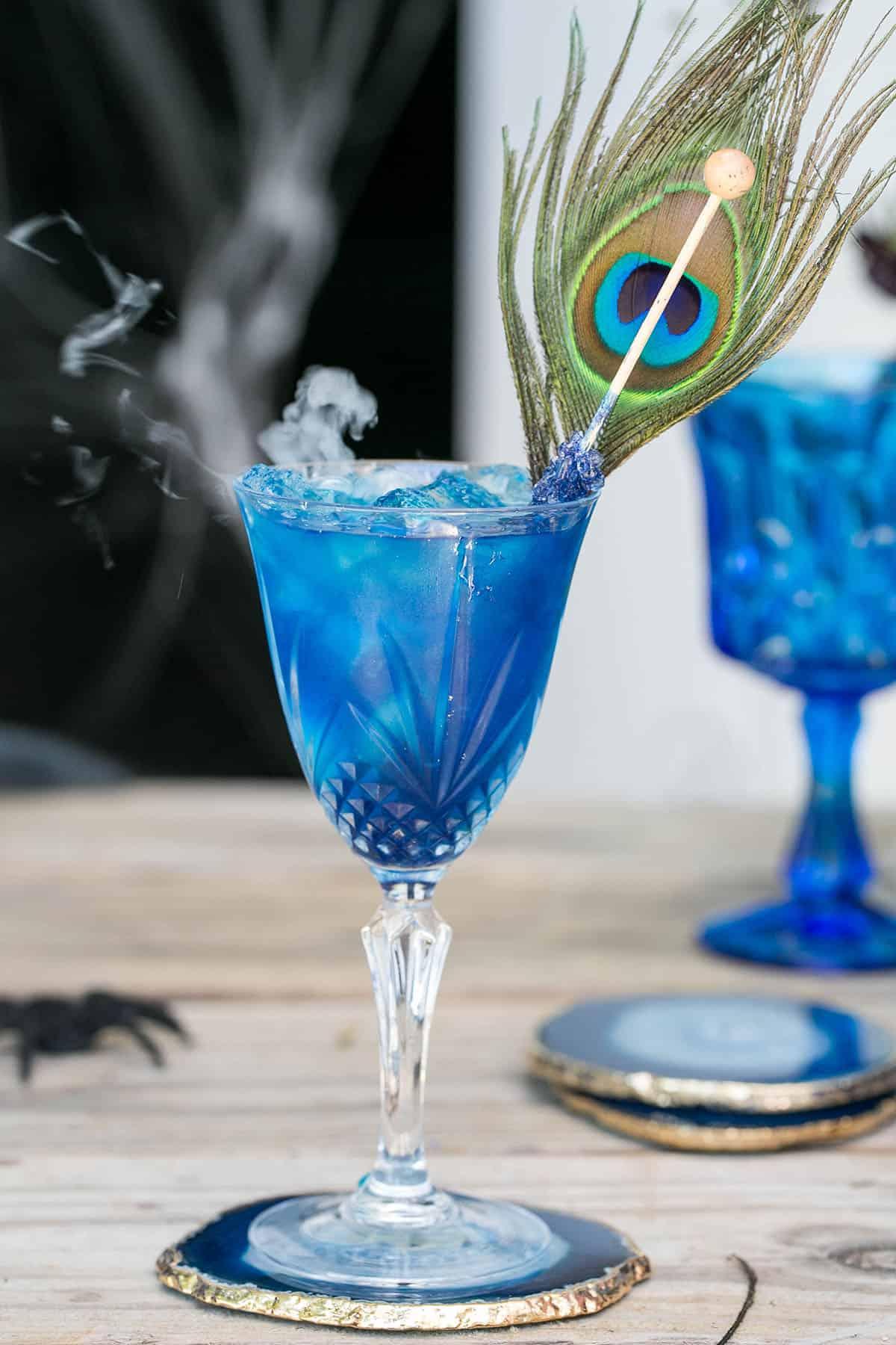 blue Halloween cocktail