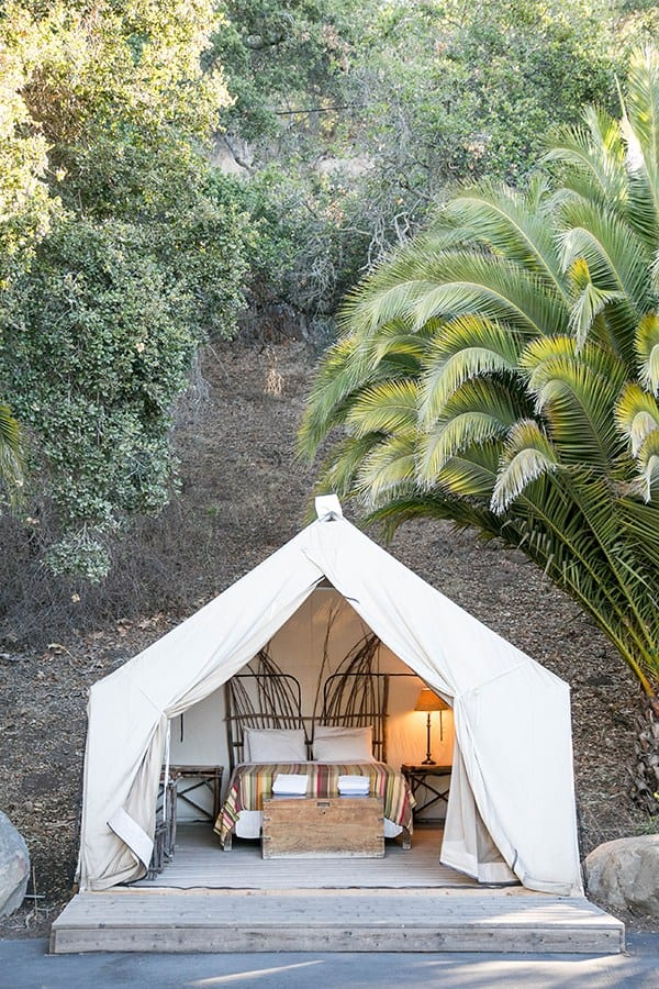 camping ideas - shot of glamping tent
