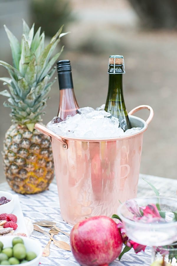 ice bucket with drinks in it