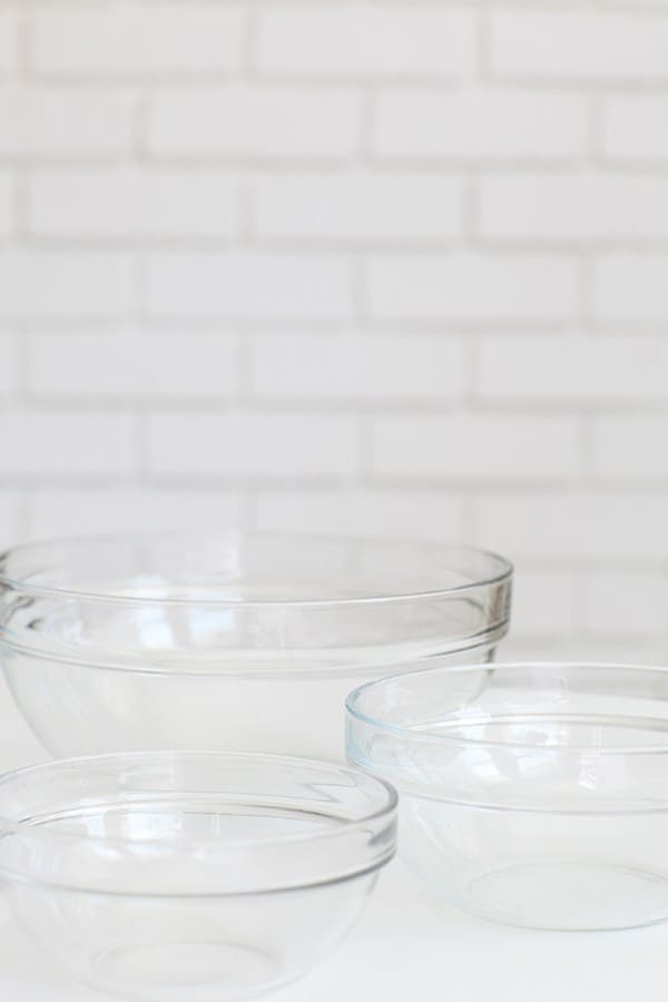 Three Clear Bowls