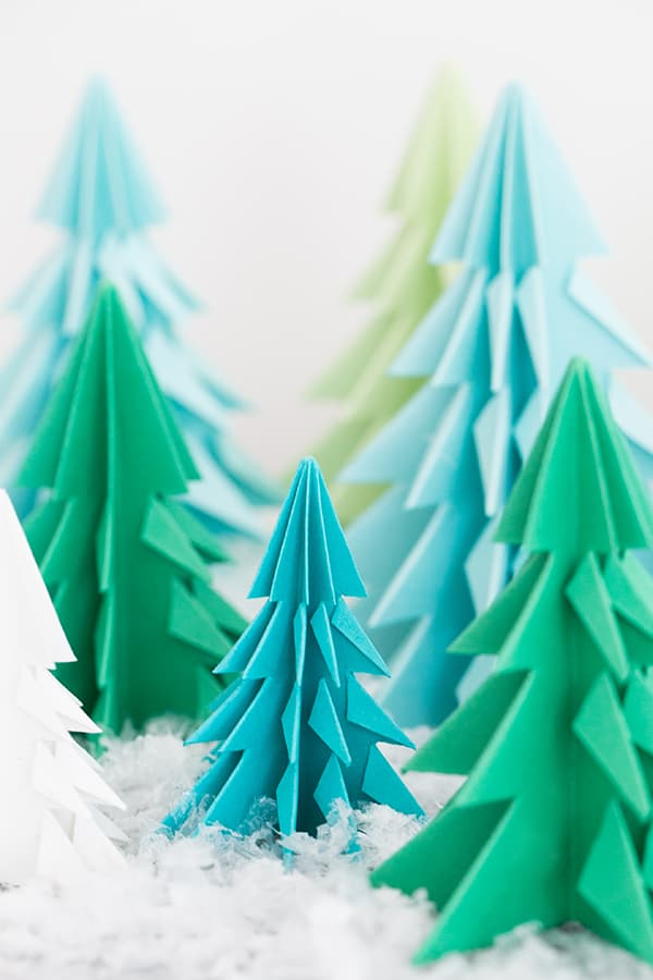 accordion paper christmas tree origami trees sugar and charm sugar and charm 3311