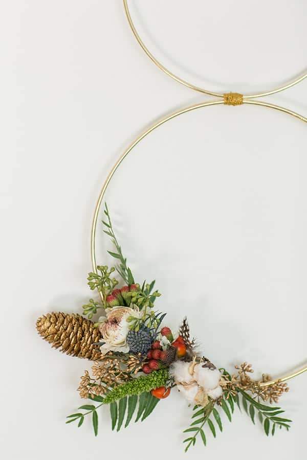 Modern Christmas Wreath and Garland - Sugar and Charm