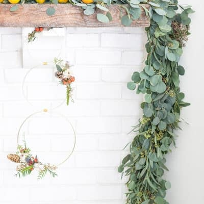 Modern Christmas Wreath and Garland