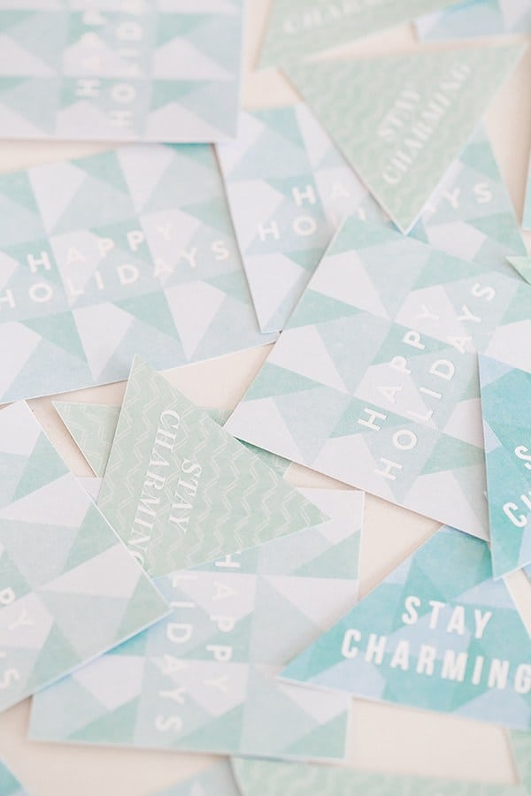 Printable holiday gift tags that say stay charming