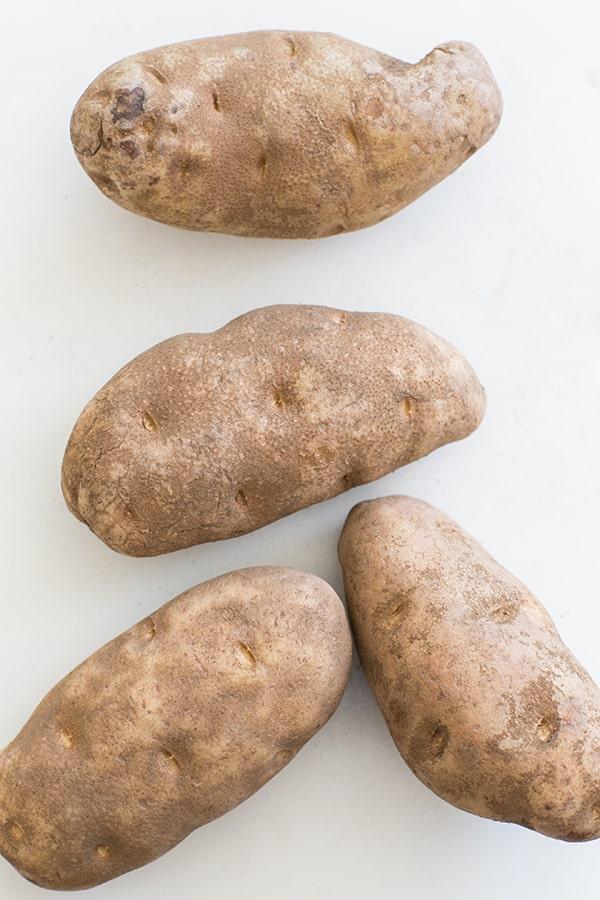 top down shot of potatoes