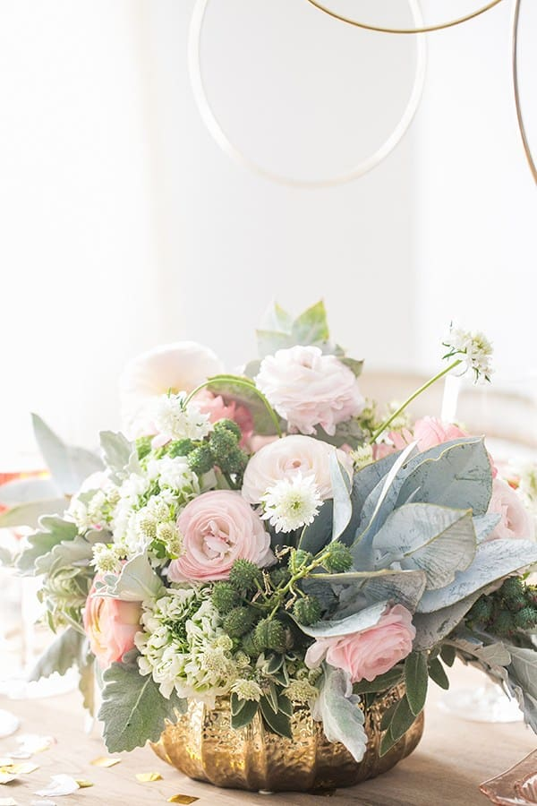 Flowers on a table setting