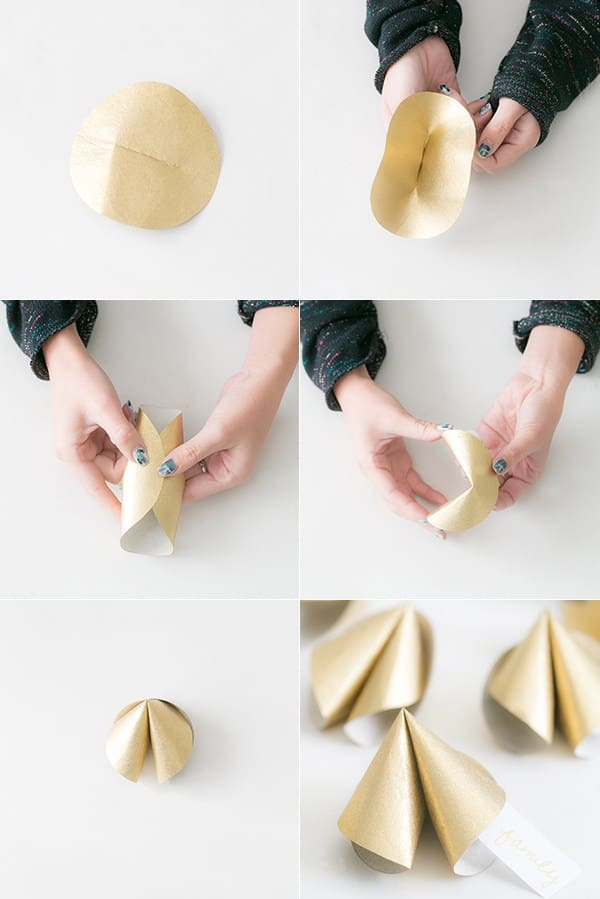 Steps for creating DIY fortune cookies
