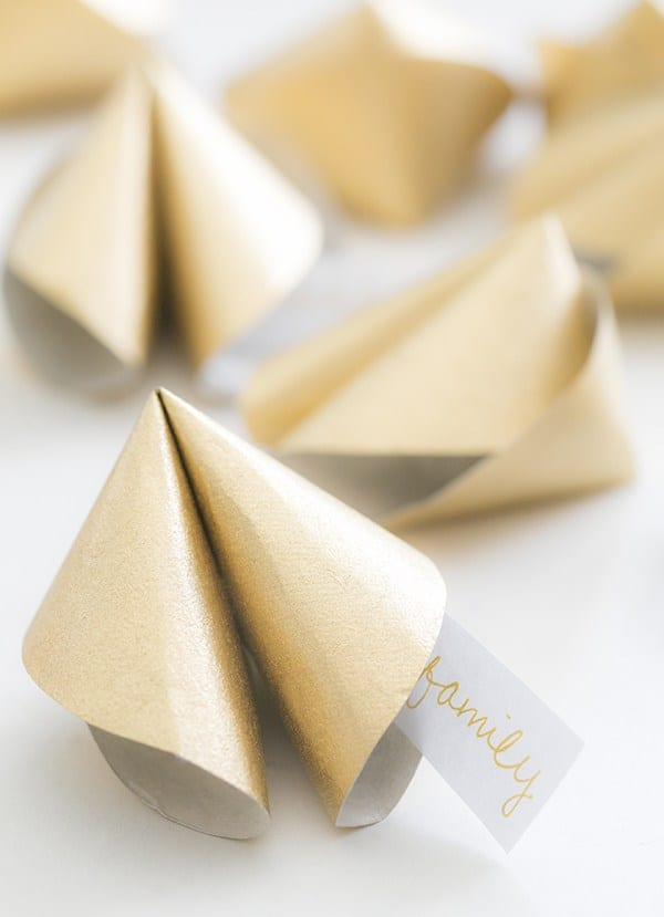 Gold paper fortunes.