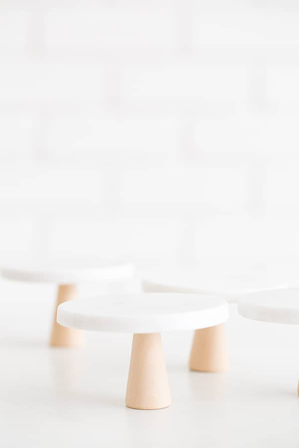 DIY Mini Marble Cake Stands