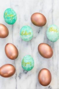 Easy Entertaining: Calligraphy Easter Eggs