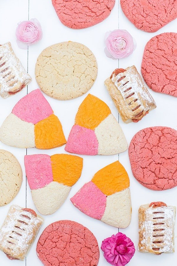 Mexican pink and white cookies.