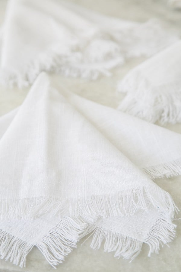 How to make fringe napkins