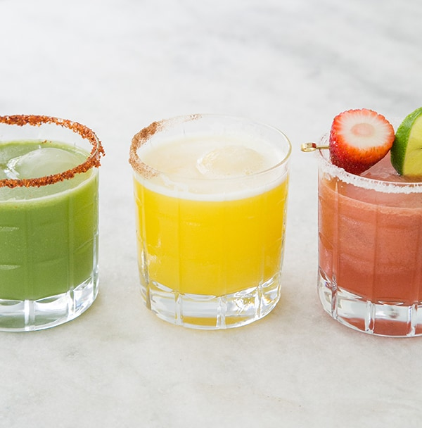 Healthy cocktails made with fresh fruit cocktails.