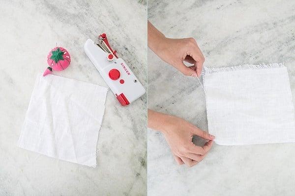 making napkins