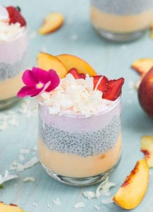 Easy Coconut Chia Seed Pudding Parfaits!