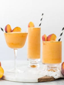 Stay Cool with our Frozen Peach Bellinis!