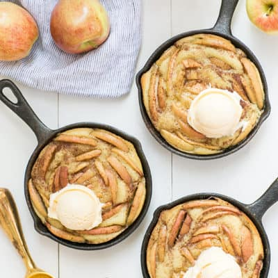 Cast Iron Skillet Olive Oil and Apple Cakes