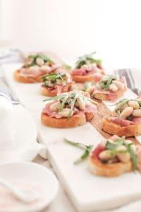 White Bean and Prosciutto Crostini Recipe!