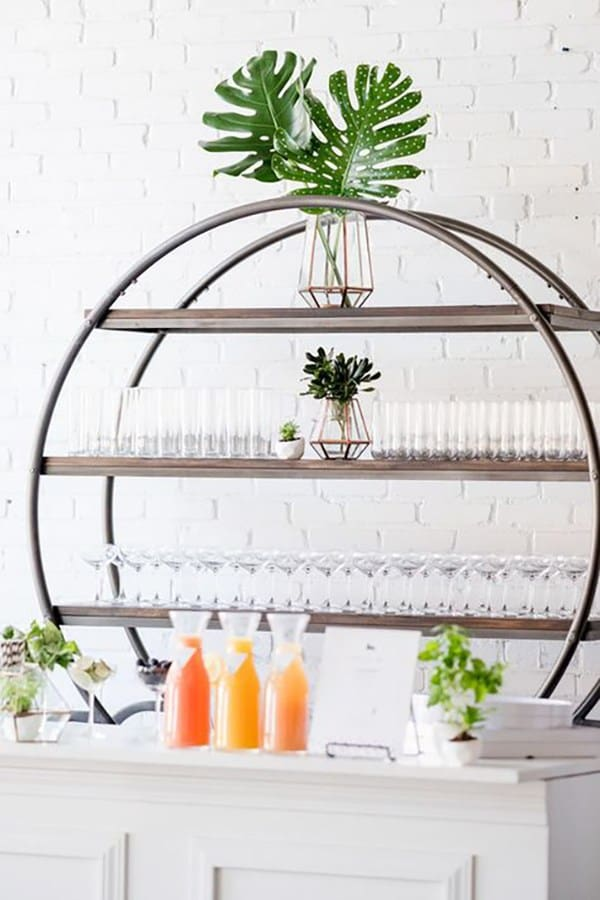 Baby shower bar with juice