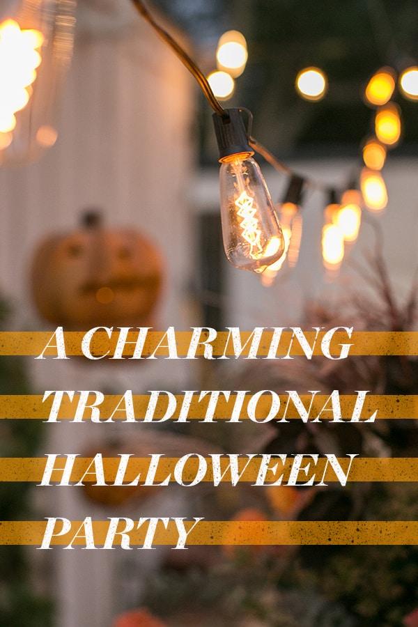 Market lights with pumpkins