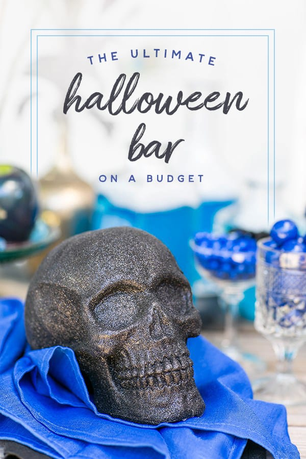 Halloween bar on a budget