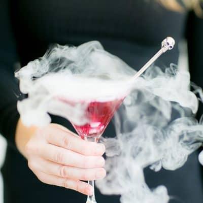 Smoking Lavender Blueberry Martini