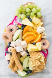 A Delicious Chocolate Fondue Platter