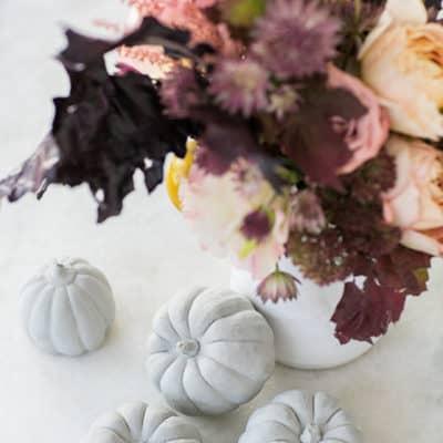 DIY Concrete Pumpkin Decorations