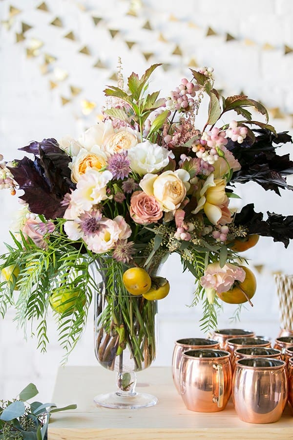 Fall flowers for a baby shower