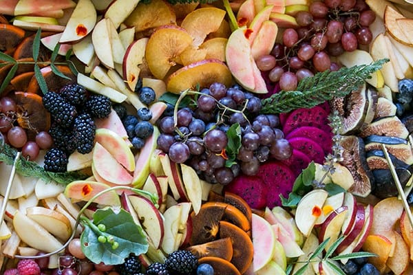 Overhead of fall fruit
