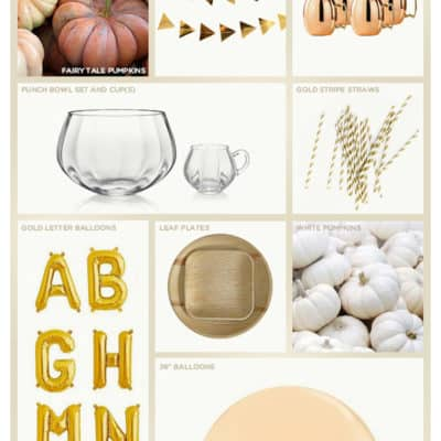 Modern Fall Baby Shower Shopping Guide