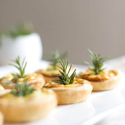 Sweet Potato and Goats Cheese Tartlets