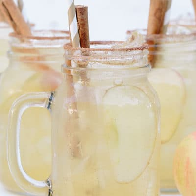 Hard apple cider cocktail