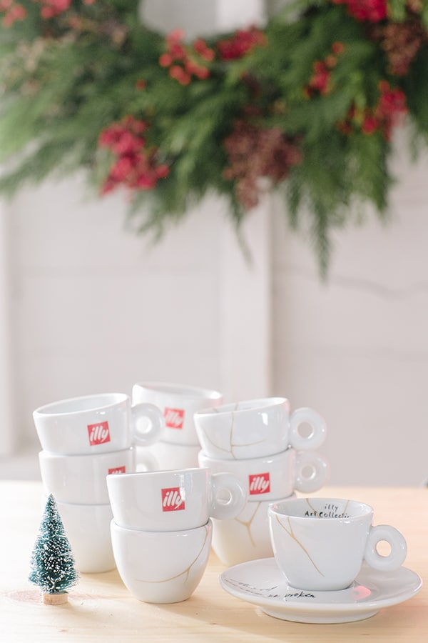 Illy espresso cups stacked