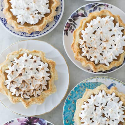 Mini Toasted Marshmallow Pumpkin Pies