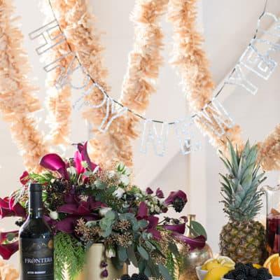 A Festive New Year's Eve Sangria Bar