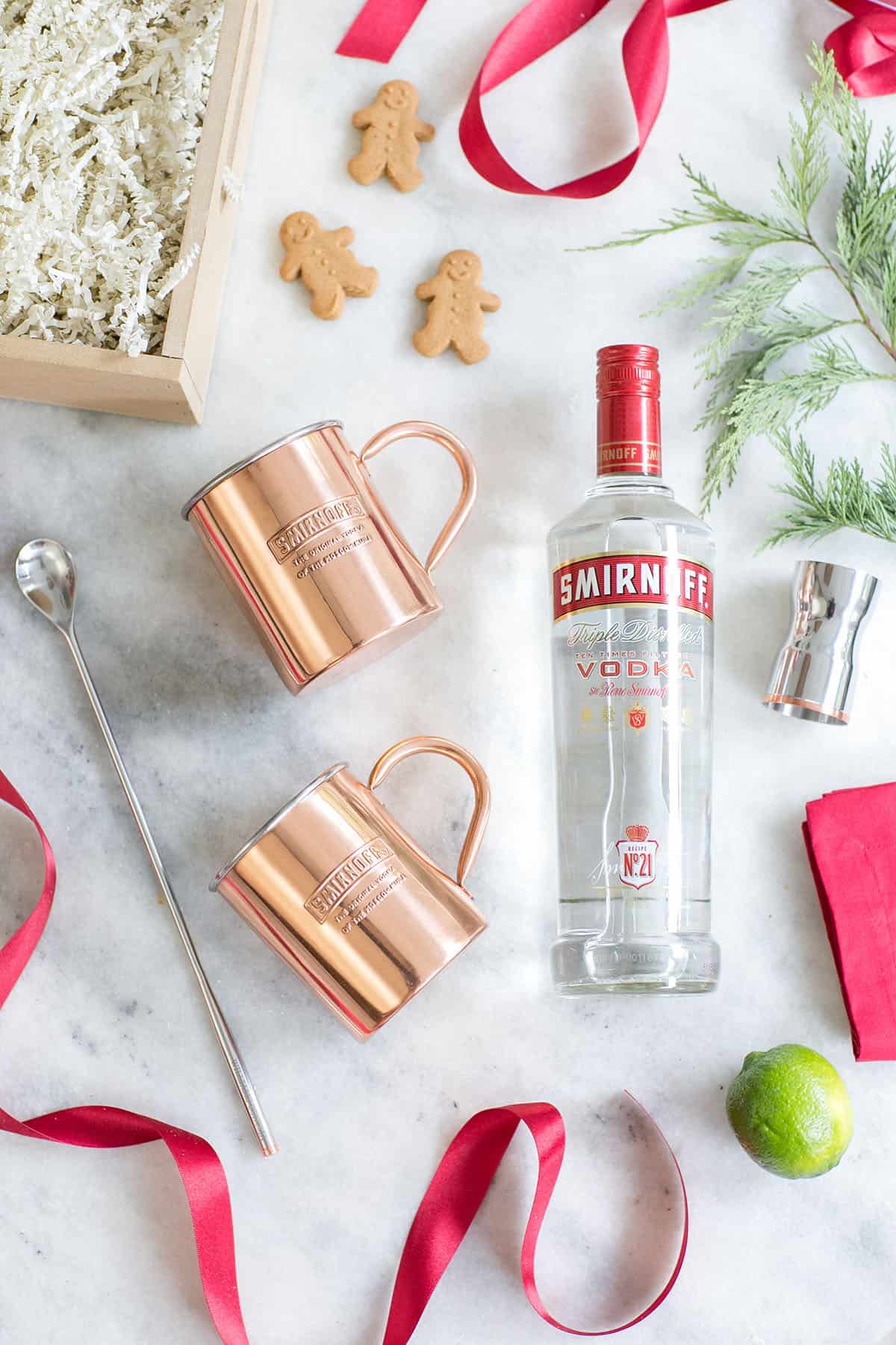 Gingerbread Moscow mule gift set