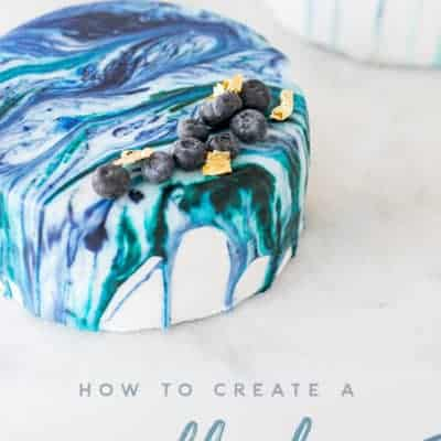 How to Create a Marble Drip Cake