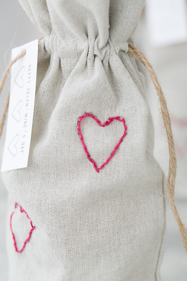 Valentine's Day Heart Wine Bags