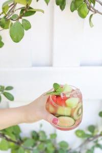 Watermelon & Honeydew Sangria Recipe