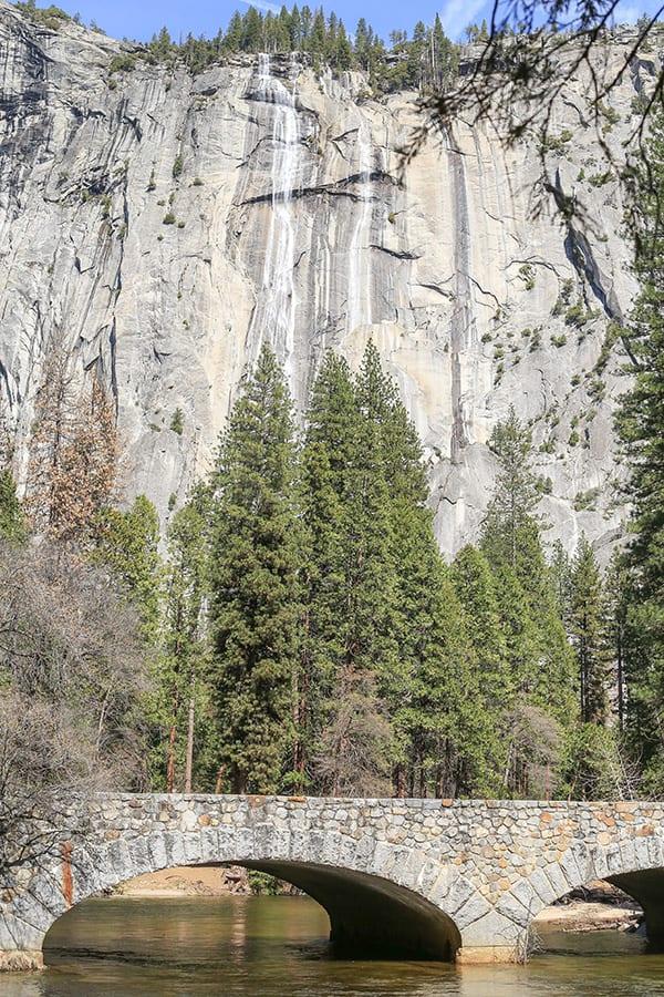 Beautiful waterfall on Yosemite
