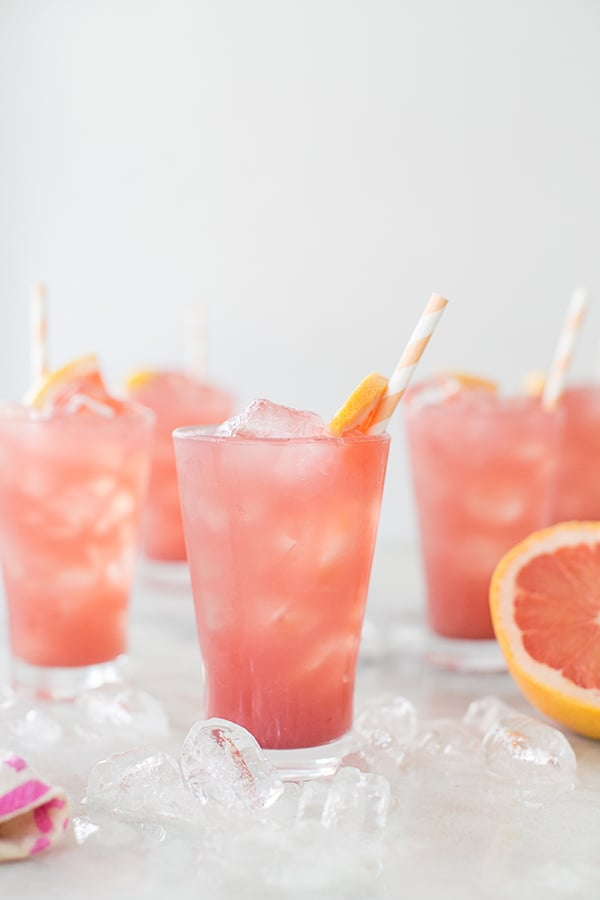 side shot of grapefruit cocktail