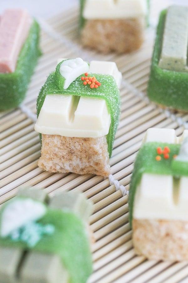 Candy Sushi using kit kat bars