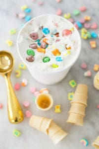 Cereal Ice Cream With Lucky Charms