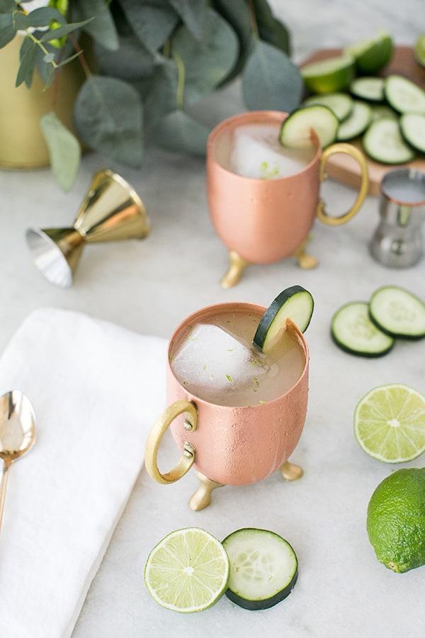 Tokyo Mule Recipe in copper mug.